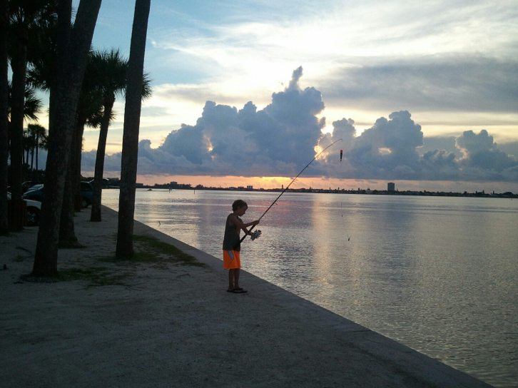 Siesta Key Sunset on the Bay- Fisherboy 1